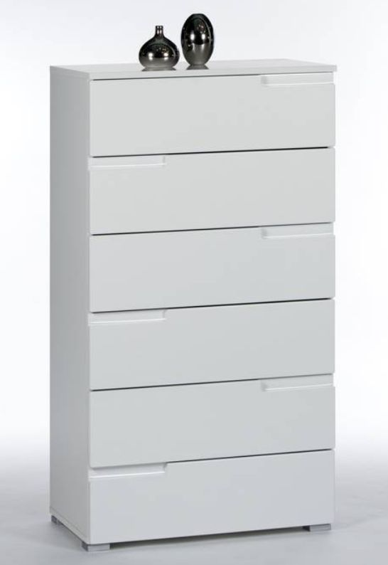Cellini Tall White Chest Of Drawer Storage Chest S3